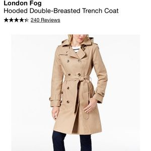 NEW LondonFog DoubleBreasted WaterRepellent Trench